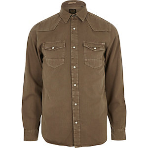 Brown Jack & Jones Vintage western shirt