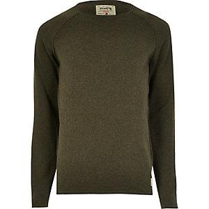 Khaki green Jack & Jones Vintage knit sweater