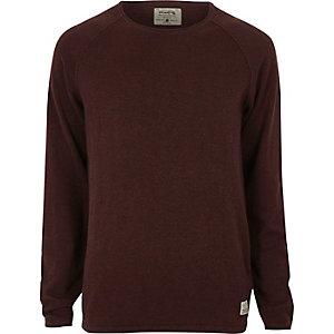 Burgundy Jack & Jones Vintage seam jumper