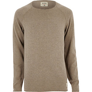 Brown Jack & Jones Vintage seam jumper