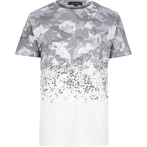 White faded camo T-shirt