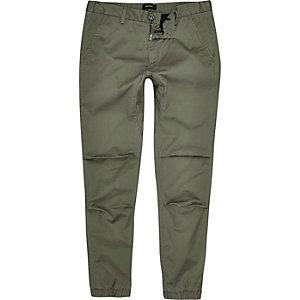 Grüne Baumwoll-Jogginghose