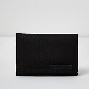 Blue mesh nylon foldout wallet