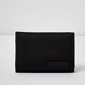 Portefeuille à rabat bleu en nylon et maille