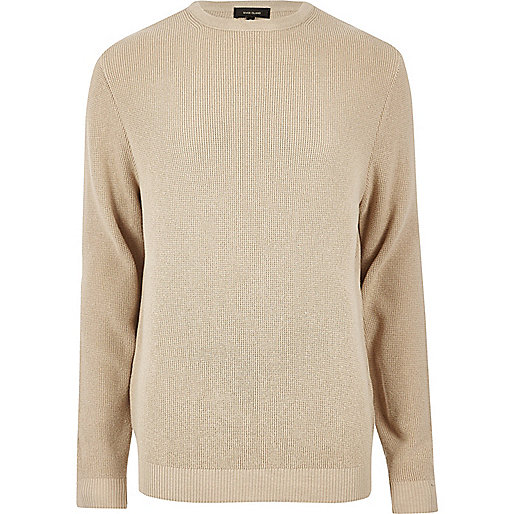 Camel textured sweater
