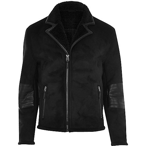Black Vito suede wind jacket