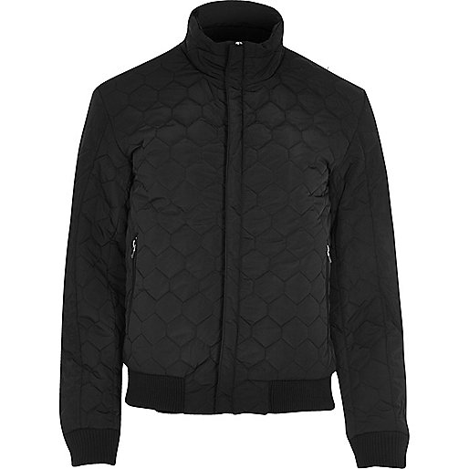 Black Vito quilted jacket