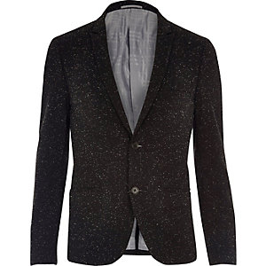 Black Vito textured blazer