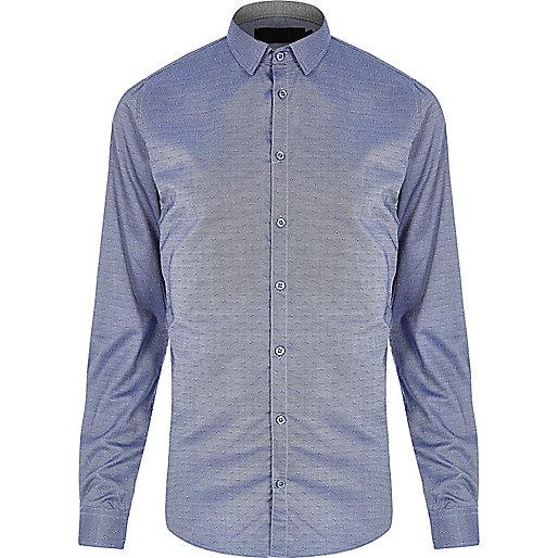 Chemise Vito bleue habillée
