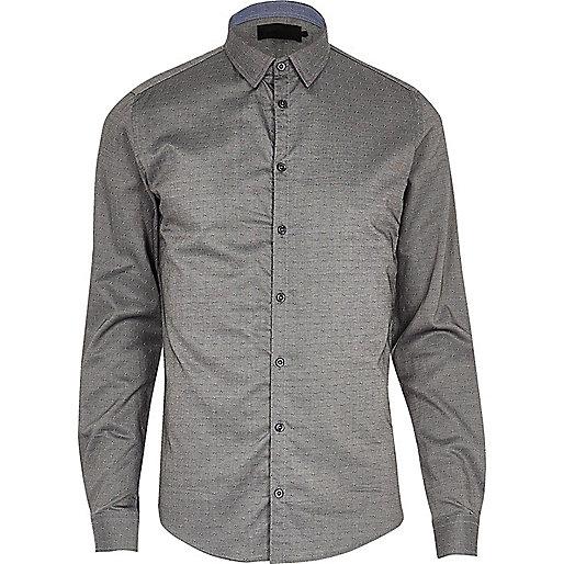 Chemise Vito gris moyen habillée