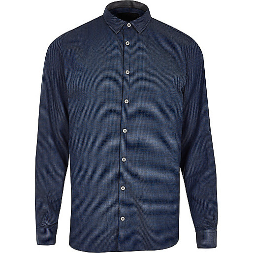 Dark blue Vito smart shirt