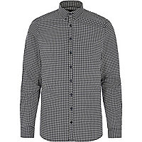 Black gingham Vito shirt