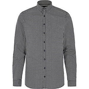 Black gingham Vito shirt