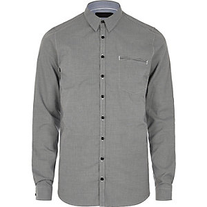 Grey Vito smart pocket shirt