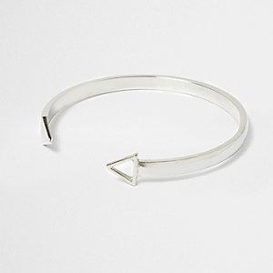 Silver tone arrow cuff bracelet