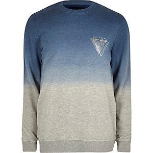 White faded logo sweatshirt