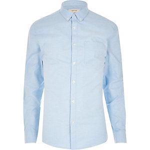 Chemise Oxford bleue à coupe ajustée
