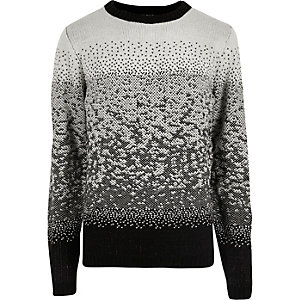 Bellfield black ombre sweater