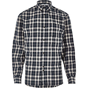 Blue Bellfield check flannel shirt