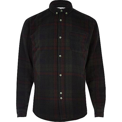 Black Bellfield check overdyed shirt