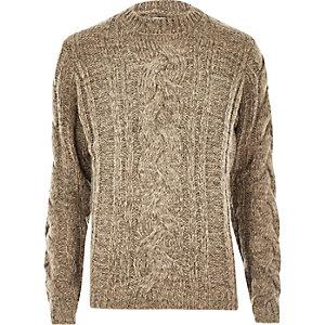 Ecru Bellfield chunky knit jumper