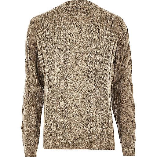 Ecru Bellfield chunky knit sweater