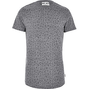 Grey Bellfield shard print T-shirt