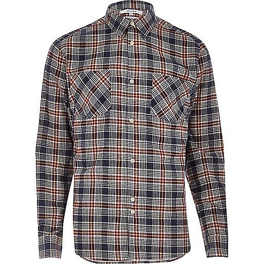 Bellfield red check flannel shirt
