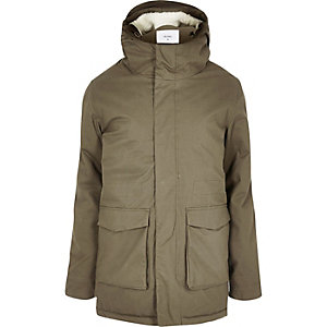Khaki Bellfield high neck parka