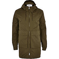 Dark green Bellfield lightweight parka