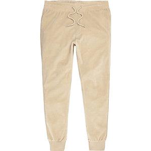 Pantalon de jogging en velours marron clair