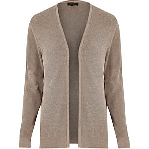Steingraue Strickjacke