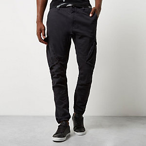 Black slim fit cargo pants