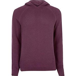 Purple perforated hoodie