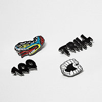 Yellow snake trill badge set