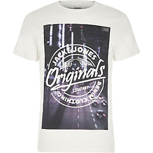 White Jack & Jones print T-shirt