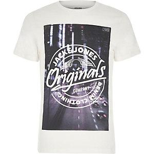 White Jack & Jones print T-shirt