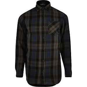Blue Jack & Jones check shirt
