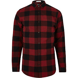 Red Jack & Jones check shirt