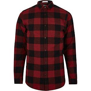 Red Jack & Jones check shirt