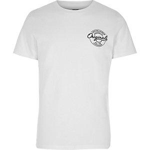 White Jack & Jones logo T-shirt