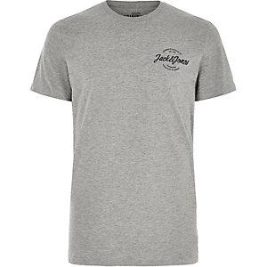 Grey Jack & Jones logo T-shirt