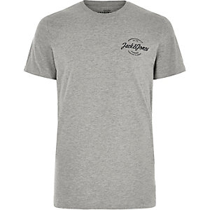 Grey Jack & Jones logo T-shirt