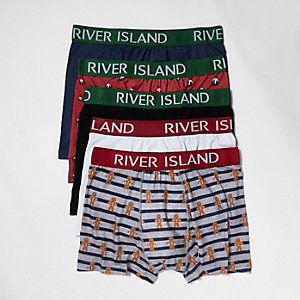Red Christmas print trunks pack