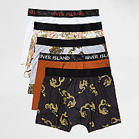 Black dragon print trunks pack