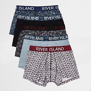Blue print hipster trunks pack