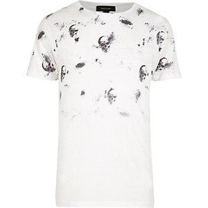 White faded skull print t-shirt