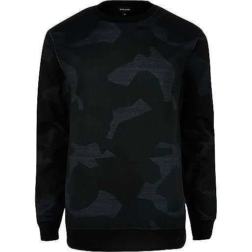 Graues Scuba-Sweatshirt mit Camouflage-Muster