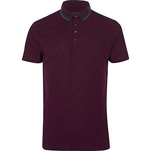 Purple short sleeve polo shirt