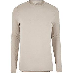 Stone regular fit long sleeve T-shirt